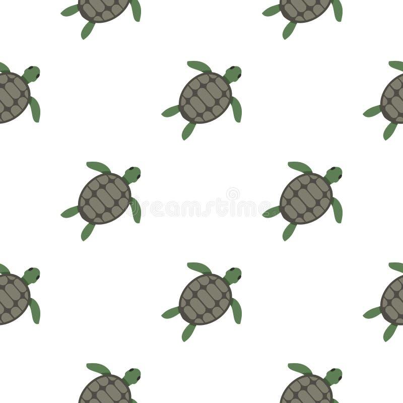 Teste padrão da tartaruga de mar verde sem emenda ilustração stock