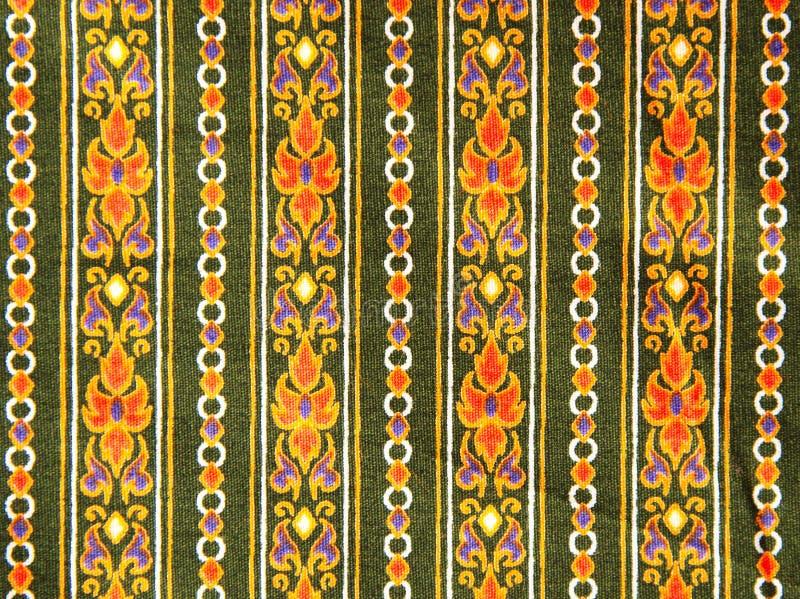 Teste padrão da tela de pano tailandês. imagem de stock