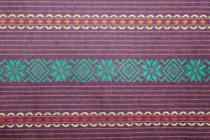 Teste padrão da tela dos sarongues do Batik de Tailândia, saron tradicional do batik fotos de stock