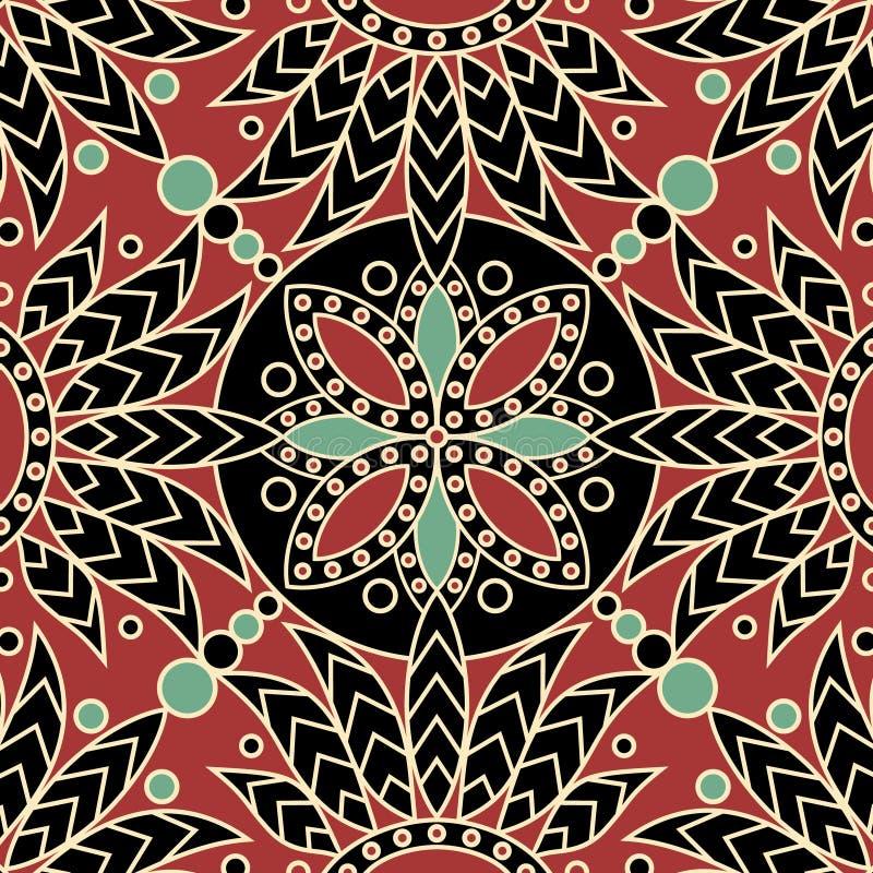 Teste padrão da telha da mandala ilustração royalty free