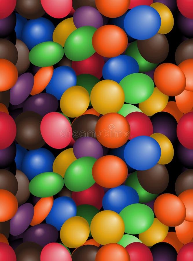 Teste padrão da telha dos doces ilustração royalty free