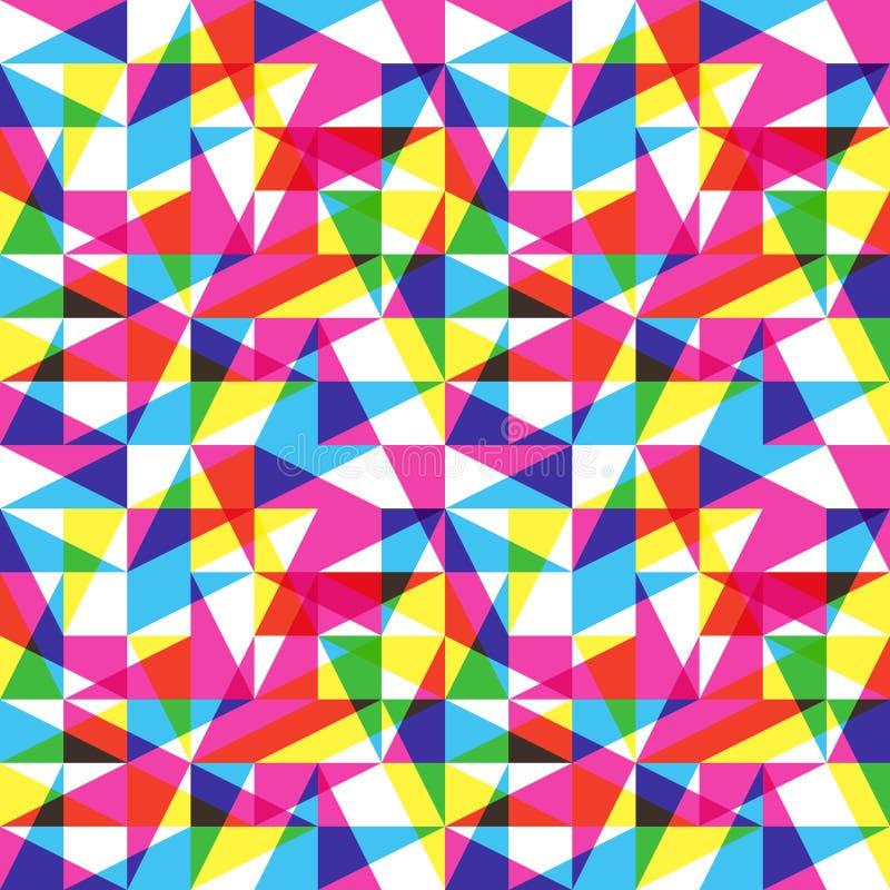 Teste padrão da tendência da cor ilustração royalty free