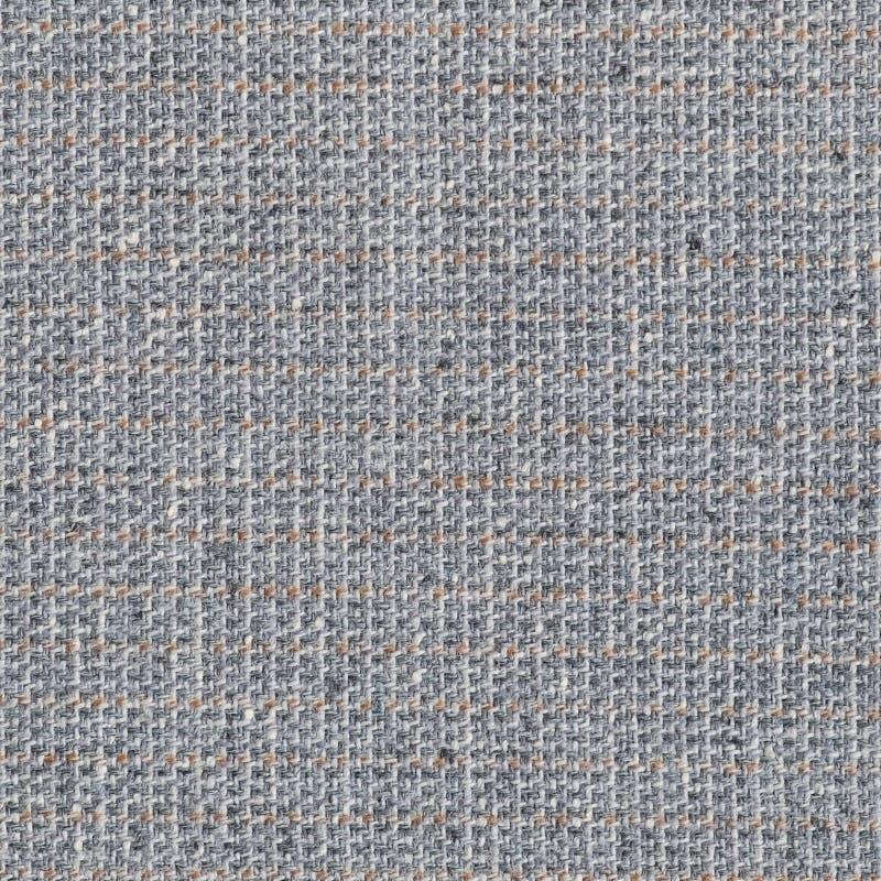Teste padrão da textura do fundo da tela de lãs de Grey Beige White Suit Coat, grande macro detalhado de Gray Horizontal Textured foto de stock