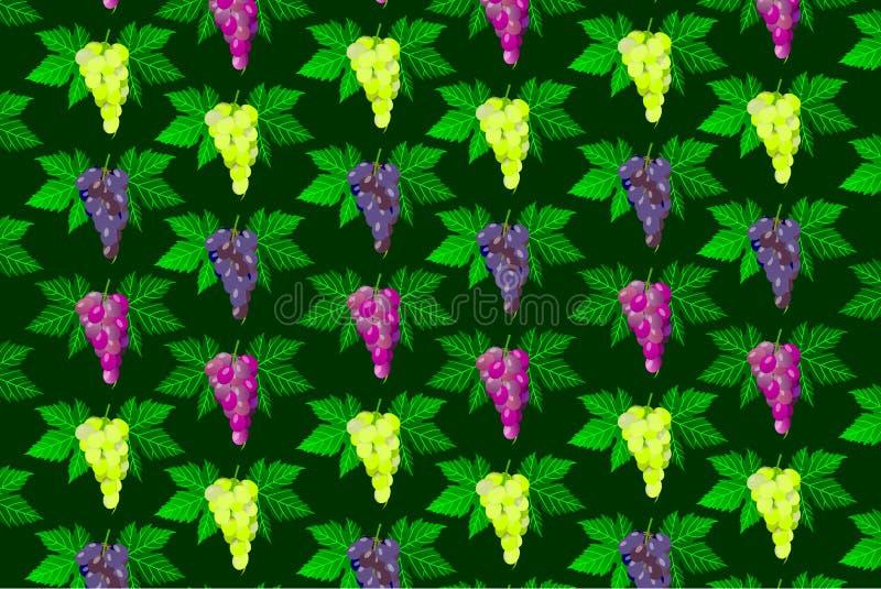 Teste padrão da uva da videira ilustração stock