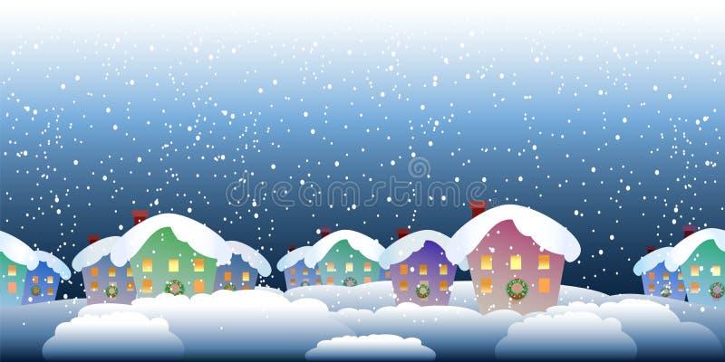Teste padrão da vila do Natal ilustração do vetor
