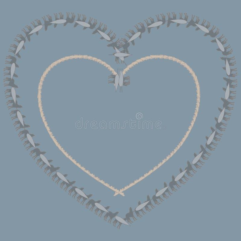 Teste padrão dado forma coração ilustração do vetor