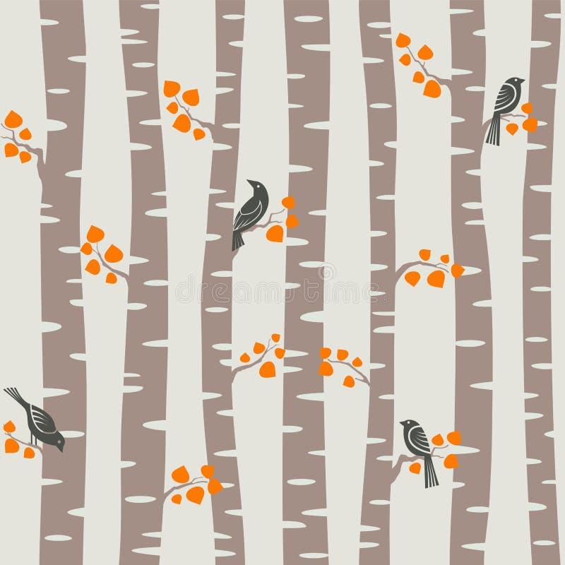 Teste padrão das árvores do outono ilustração stock