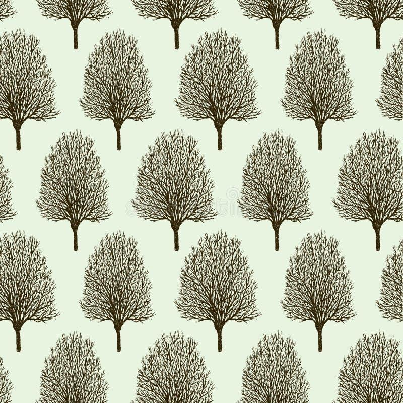 Teste padrão das árvores na primavera ilustração do vetor