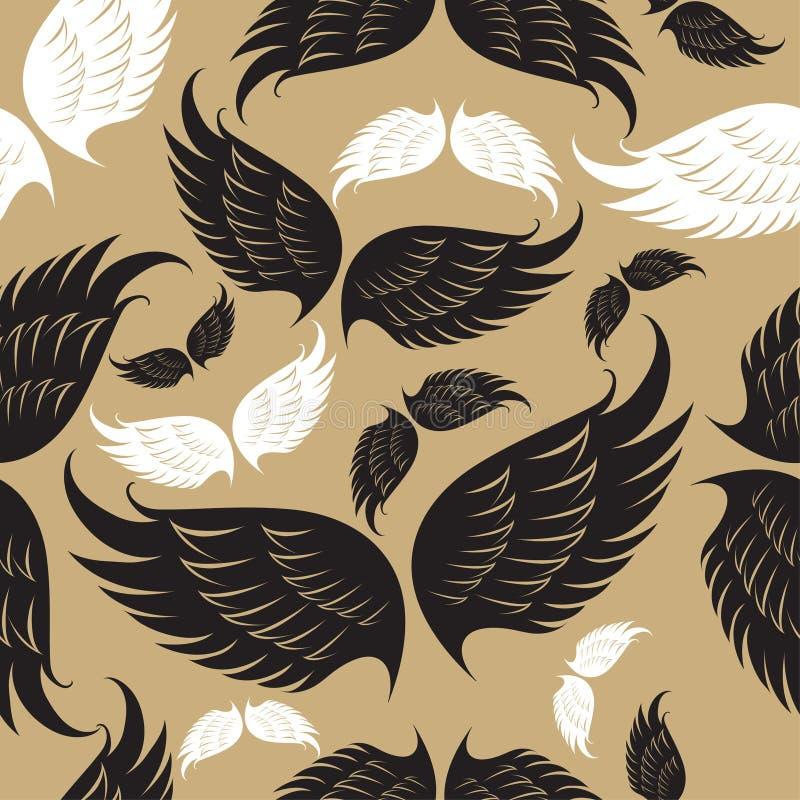 Teste padrão das asas ilustração royalty free
