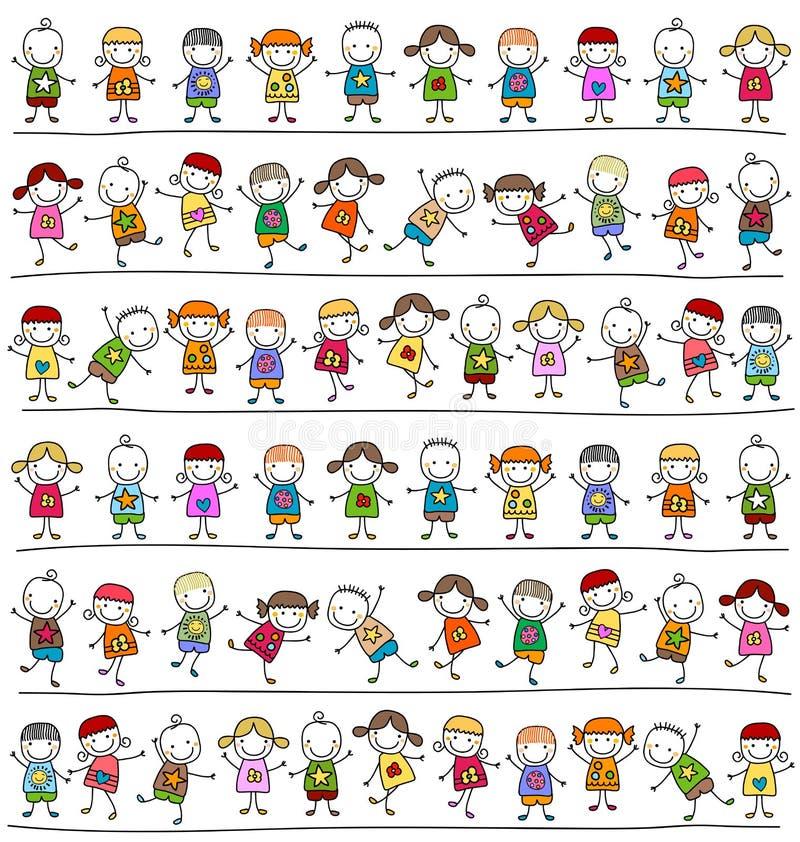 Teste padrão das crianças ilustração royalty free