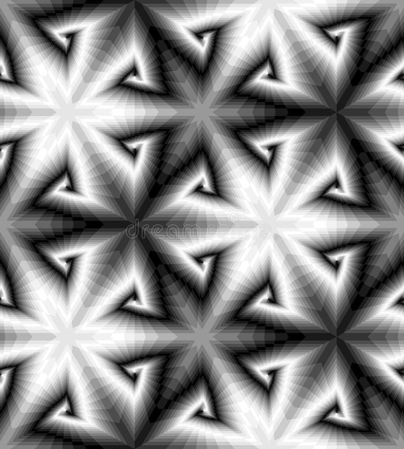 Teste padrão das espirais Fundo abstrato geométrico Ilusão ótica da perspectiva e do volume Apropriado para o design web ilustração royalty free