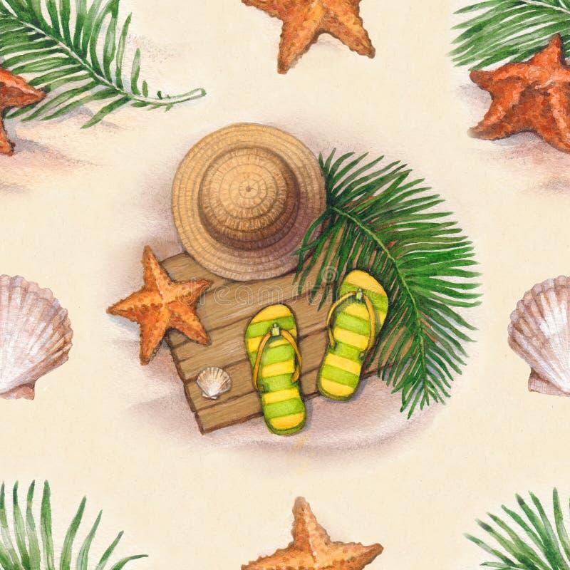 Teste padrão das férias de verão ilustração royalty free
