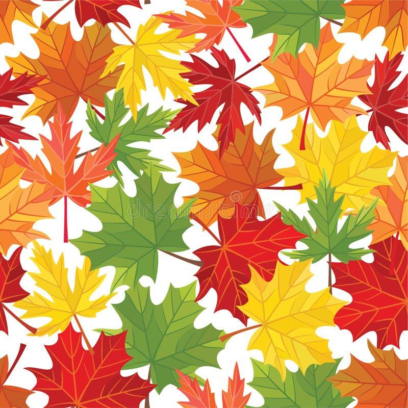Teste padrão das folhas de outono Textura sem emenda do vetor ilustração royalty free