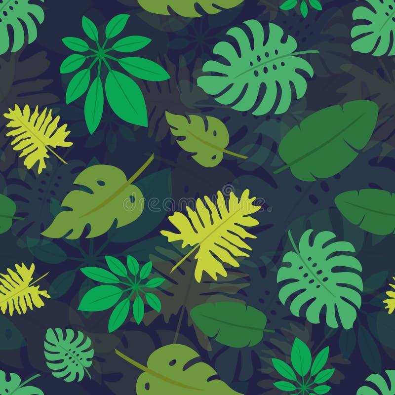Teste padrão 1 das folhas tropicais ilustração do vetor