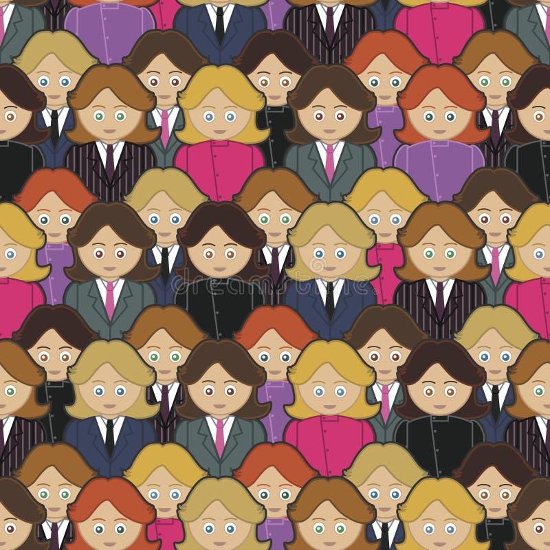 Teste padrão das mulheres de negócio ilustração do vetor