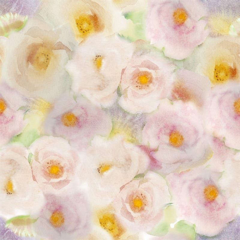Teste padrão das rosas ilustração do vetor