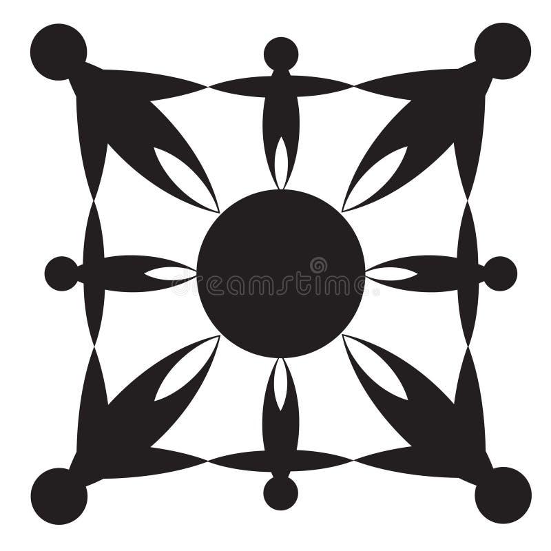 Teste padrão das silhuetas ilustração royalty free