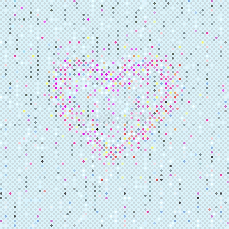 Teste padrão de às bolinhas de Seamles dos Valentim ilustração royalty free