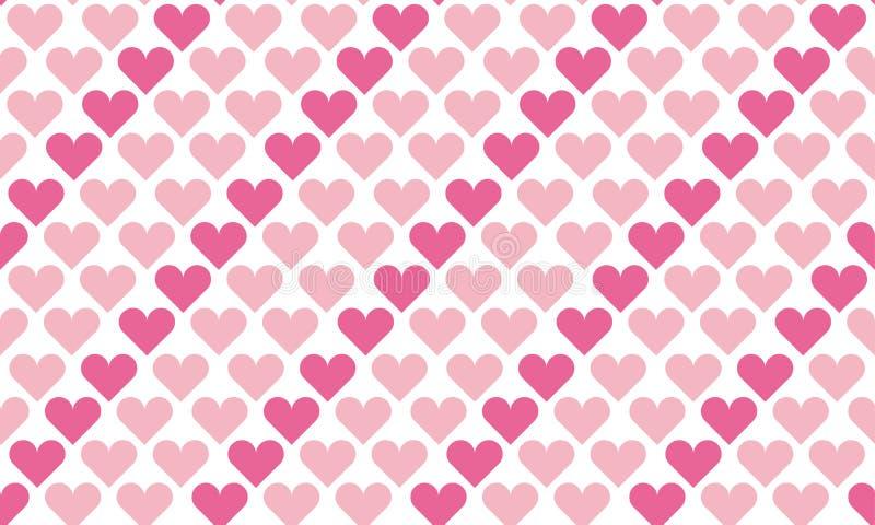 Teste padrão de às bolinhas sem emenda do Valentim com corações ilustração royalty free