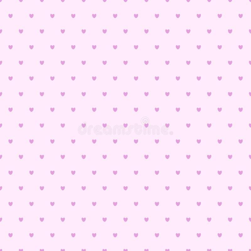 Teste padrão de às bolinhas sem emenda dos corações ilustração royalty free