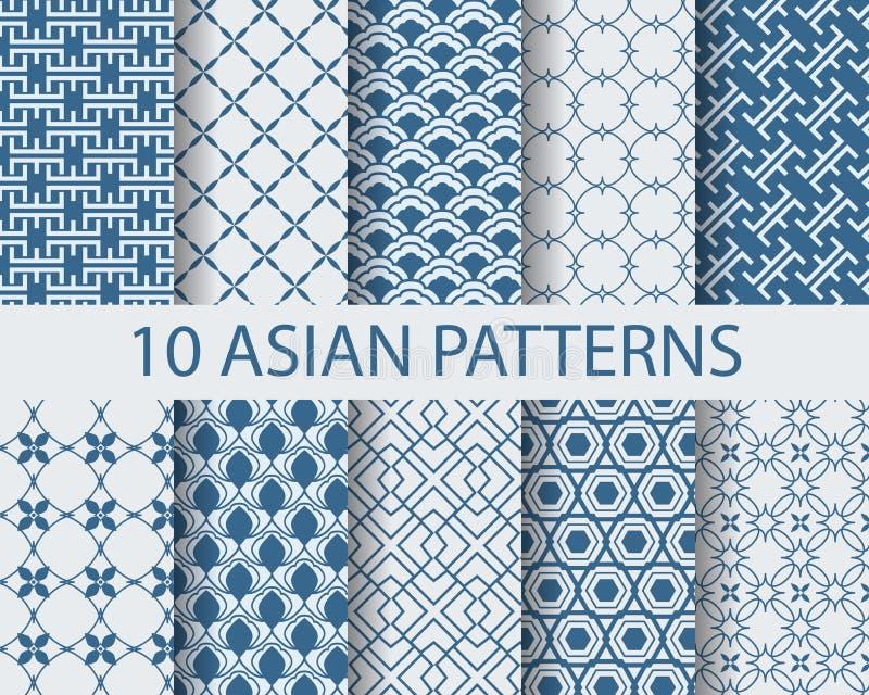 Teste padrão de Ásia ilustração royalty free