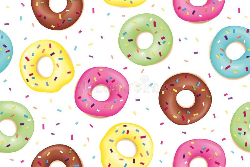 Teste padrão de anéis de espuma coloridos doces ilustração royalty free