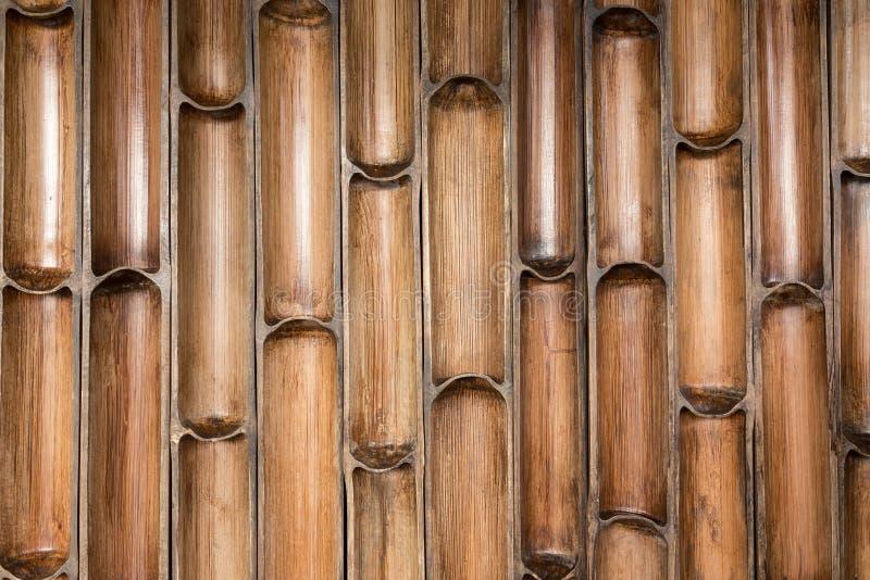 Teste padrão de bambu da parede imagem de stock royalty free