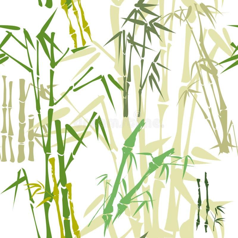 Teste padrão de bambu (fundo) ilustração stock