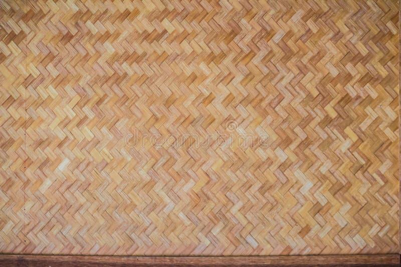 Teste padrão de bambu tecido para o fundo Textura de madeira de bambu do weave do artesanato Textura de tecelagem de bambu velha  fotos de stock royalty free