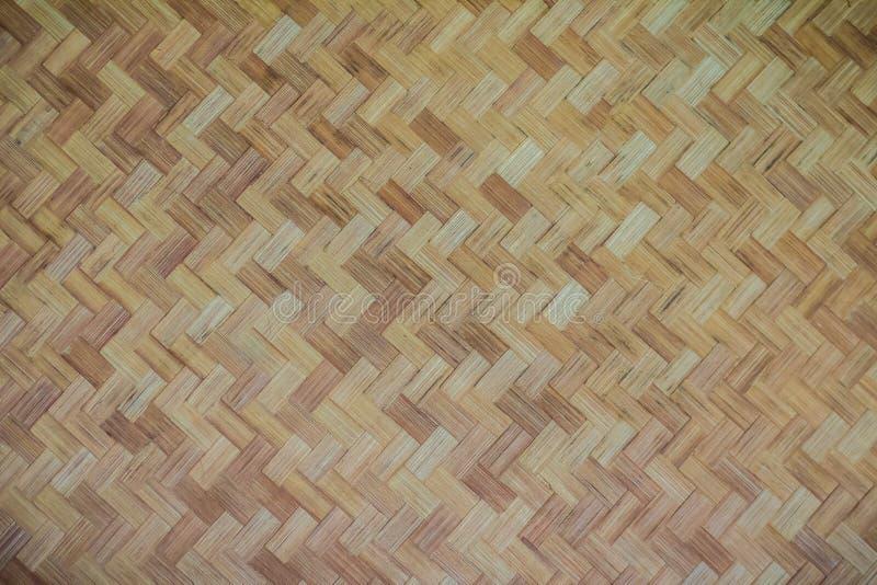 Teste padrão de bambu tecido para o fundo Textura de madeira de bambu do weave do artesanato Textura de tecelagem de bambu velha  foto de stock royalty free