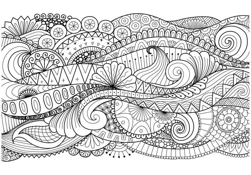 Teste padrão de Boho para o fundo, decorações, bandeira, livro para colorir, cartões e assim por diante ilustração stock