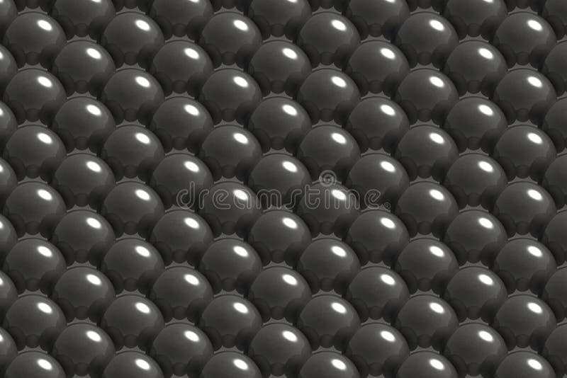 Teste padrão de bolas de metal fotografia de stock