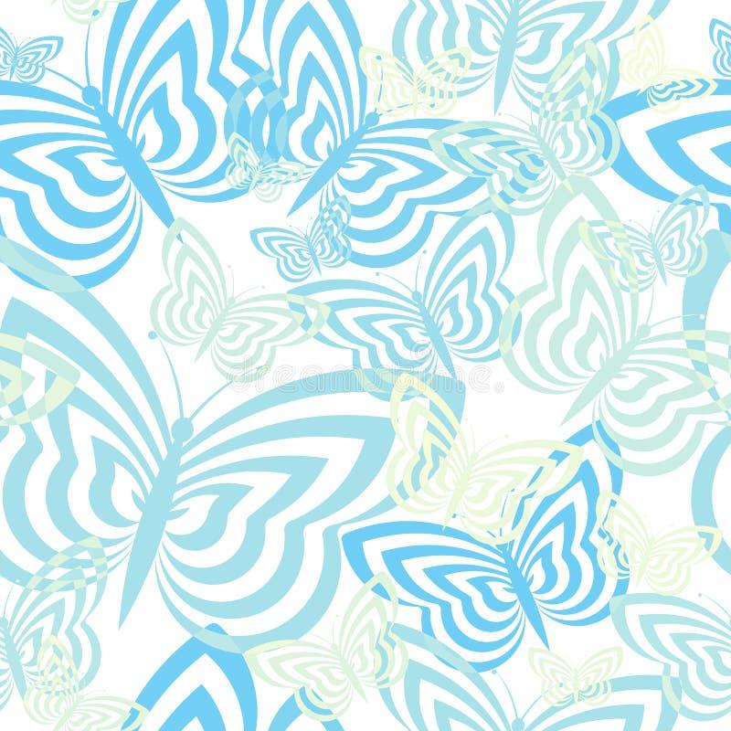 Teste padrão de borboleta sem emenda ilustração royalty free