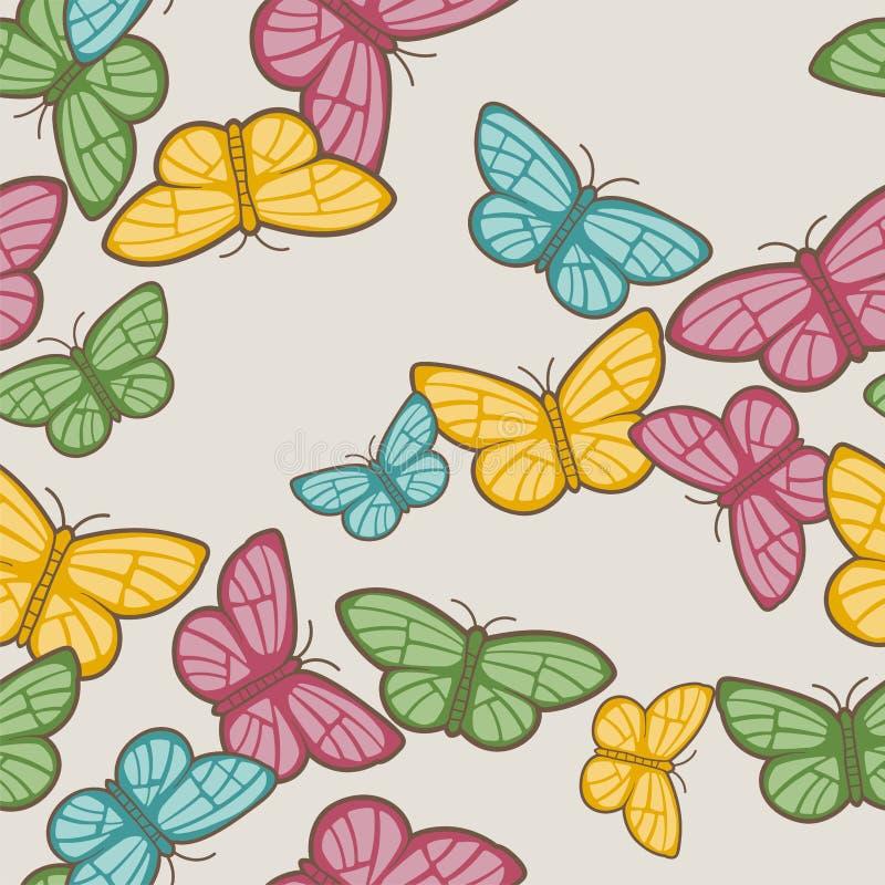 Teste padrão de borboletas ilustração royalty free