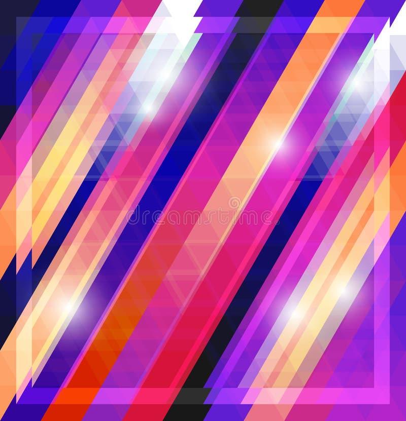 Teste padrão de brilho geométrico com triângulos ilustração stock