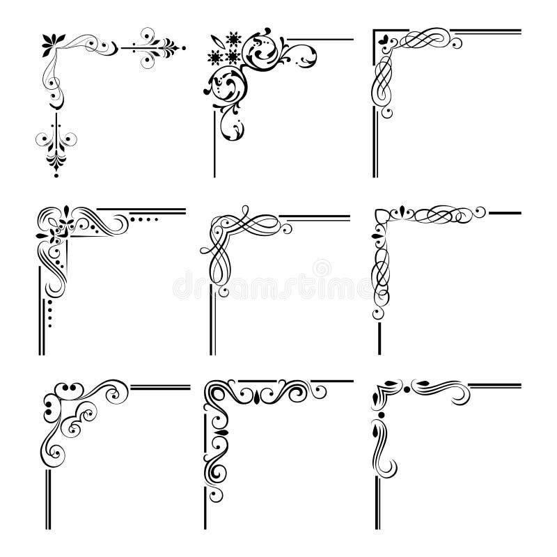 Teste padrão de canto abstrato ilustração royalty free