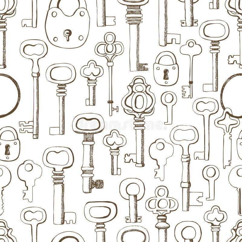Teste padrão de chaves ilustração stock