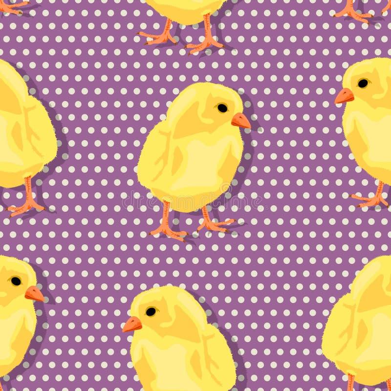 Teste padrão de Chiken ilustração royalty free