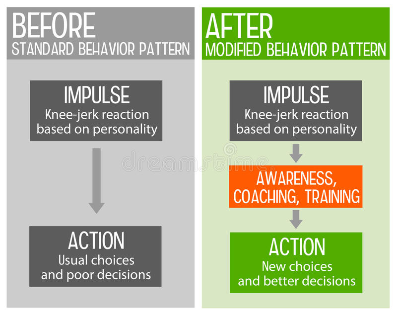 Teste padrão de comportamento ilustração do vetor