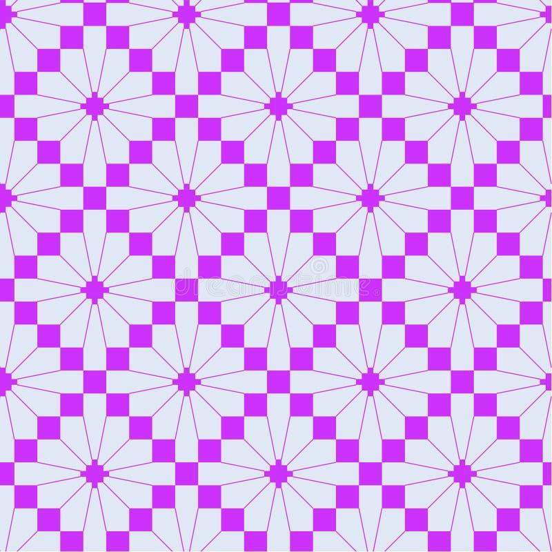 Teste padrão de confecção de malhas cor-de-rosa ilustração stock