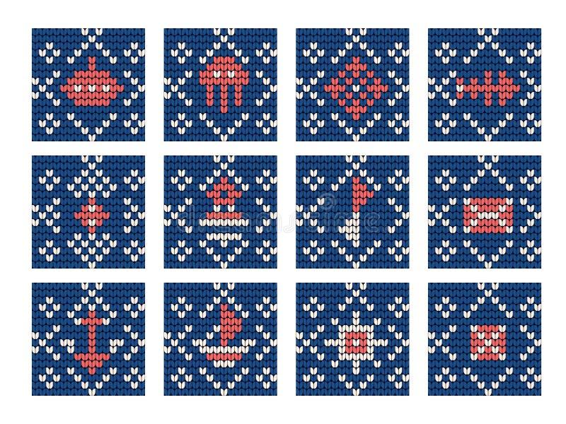 Teste padrão de confecção de malhas da avó ajustado para a camiseta feia ilustração royalty free