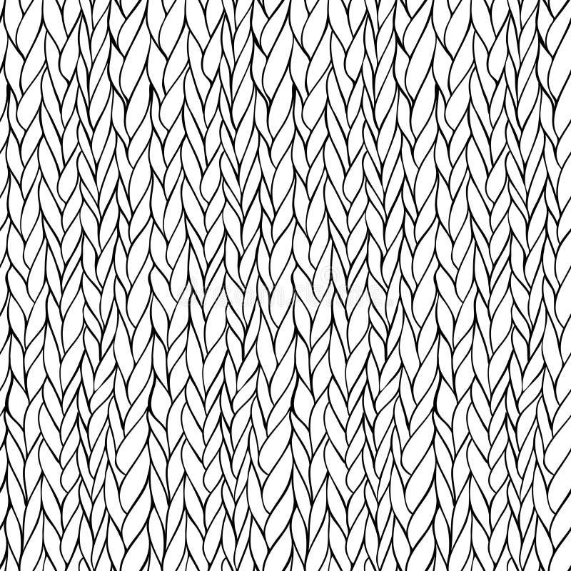 Teste padrão de confecção de malhas sem emenda ilustração do vetor