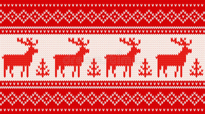 Teste padrão de confecção de malhas sem emenda com cervos ilustração royalty free