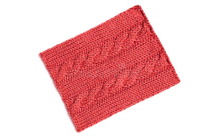Teste padrão de confecção de malhas vermelho imagem de stock