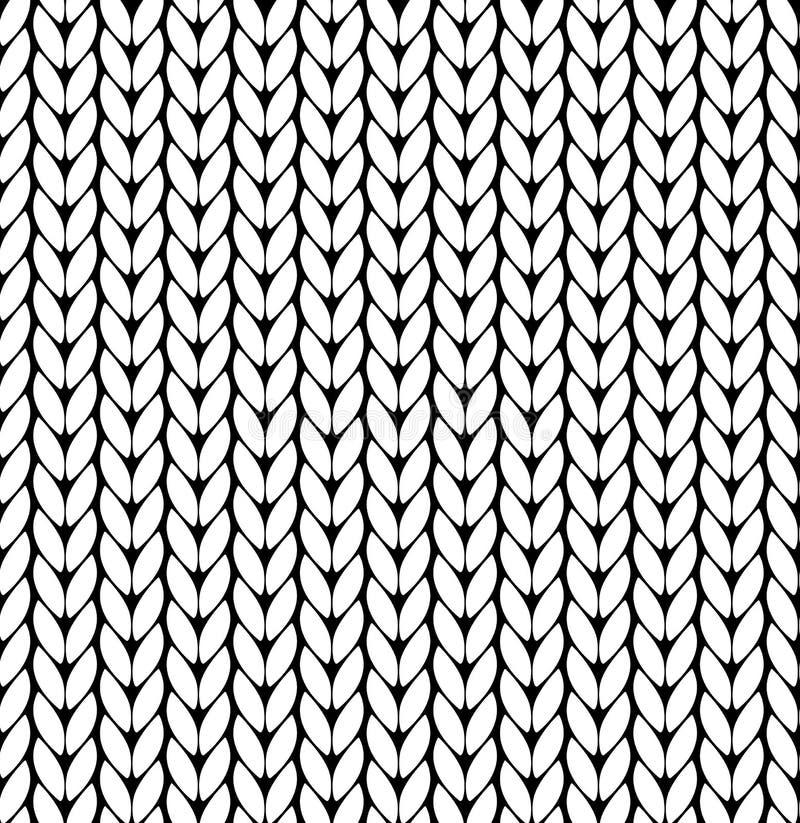 Teste padrão de confecção de malhas do vetor Teste padrão sem emenda da textura do vetor Teste padrão sem emenda da textura branc ilustração stock