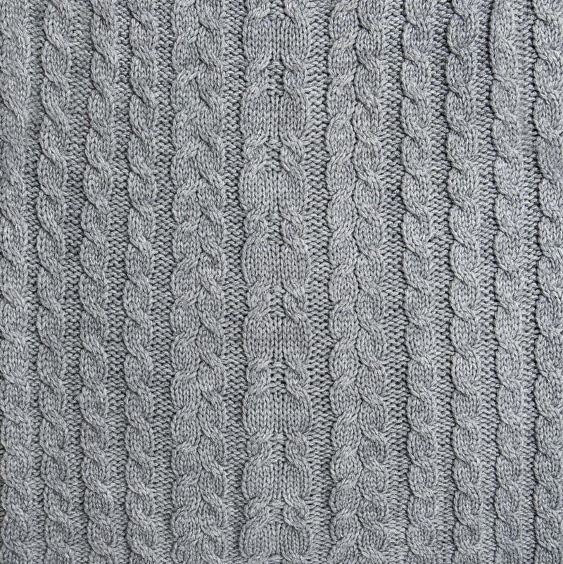 Teste padrão de confecção de malhas feito malha do fundo da malha da textura de lãs imagens de stock