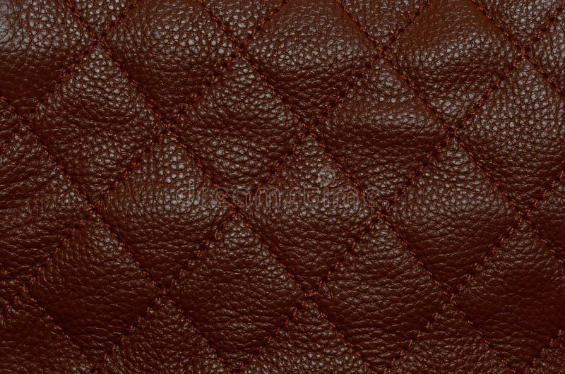 Teste padrão de couro de Brown imagem de stock