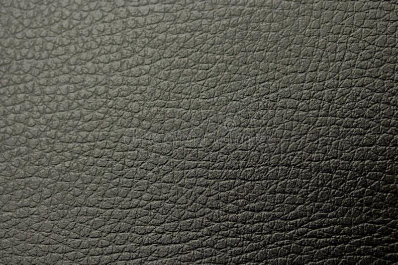 Teste padrão de couro preto da textura do fundo estrutura de superfície de couro escura foto de stock royalty free