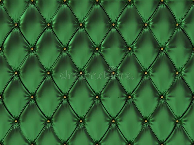 Teste padrão de couro verde sem emenda de estofamento, ilustração 3d ilustração royalty free