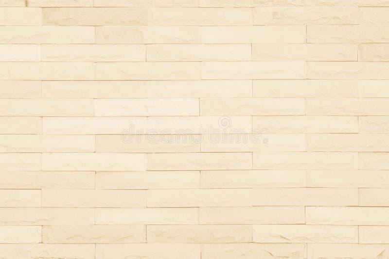 Teste padrão de creme sem emenda do surfac decorativo da parede do arenito do tijolo fotos de stock royalty free